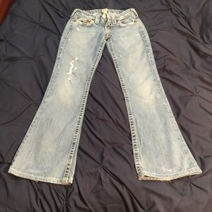 Size 27 True Religion Boot cut jeans for women
